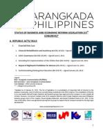 Legislative Priorities - January 2013
