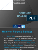 Forensic Ballistics Andrei Tudor Dumitrescu