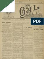 Lou Gal - N°37 du 1er Janvier 1917 (3ème année)