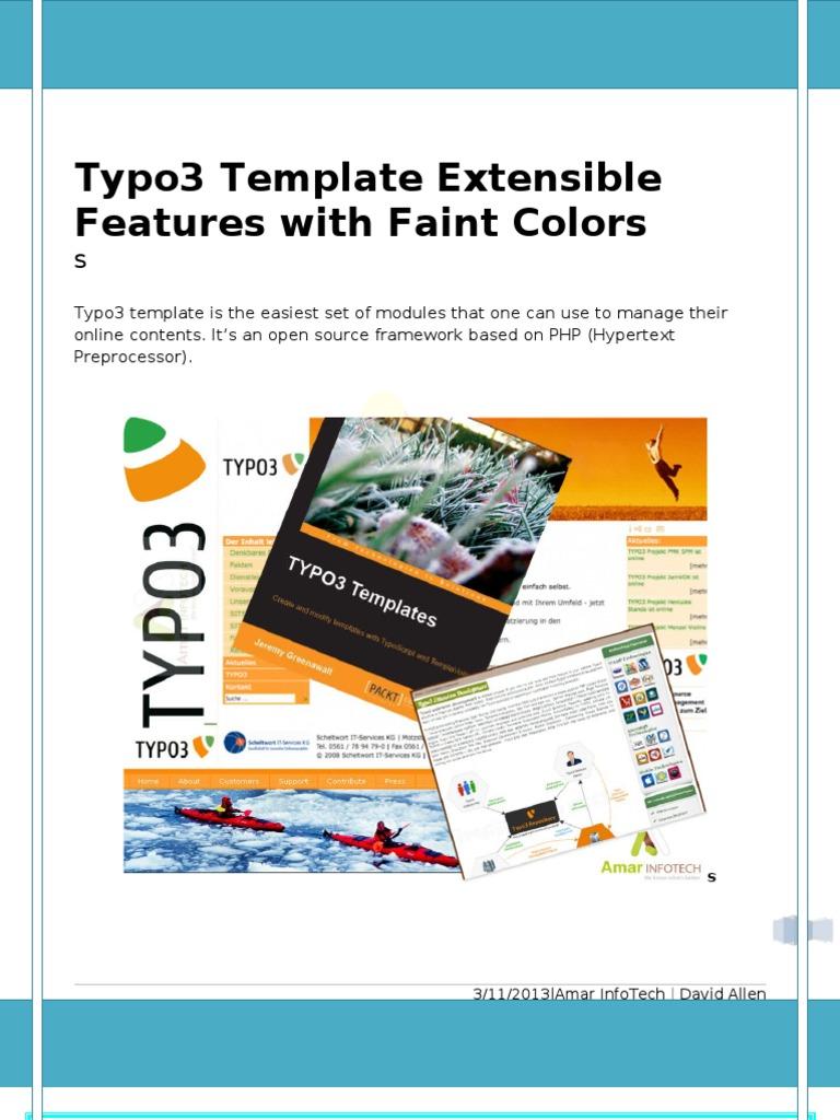 Groß Typo3 Vorlagen Ideen - Entry Level Resume Vorlagen Sammlung ...