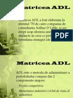 Matricea ADL 2012