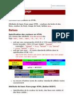 Exercices HTML Attributs de Page Couleurs Texte Et Liens Fo