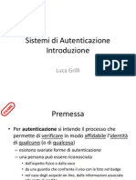 D09 Sistemi Di Autenticazione Introduzione
