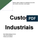 Custos Industriais Conceitos