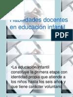 Habilidades Del Educador Infantil