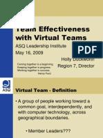 Virtual teamm