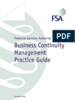 Financial Services Authority BCM Guide
