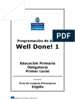 Well Done! 1 Programación de Aula