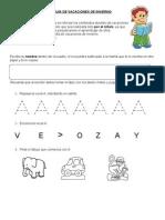 GUIA de PREKINDER lenguaje y matemáticas