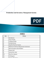 Production and Inventory Management System