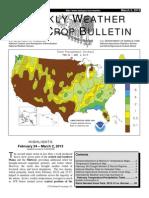 Weekly weather & crop bulletin