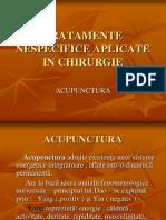 Acupunctura - tratamente nespecifice aplicate în chirurgie