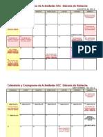 Calendario y Cronograma de Actividades II RCC 2011 - 2012 Diócesis de Riohacha (Consejo)