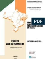 Proj ValeParamirim Litogeoquimica BA
