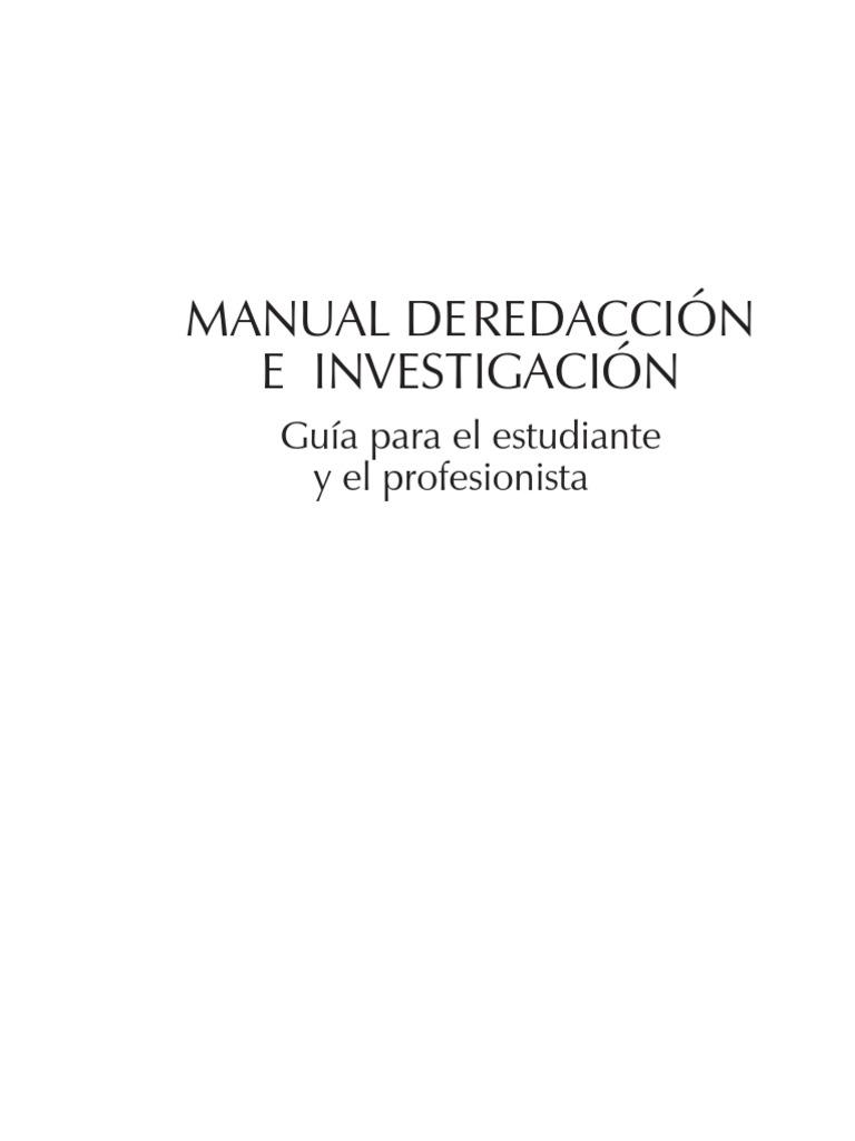Manual de Redacción e Investigación