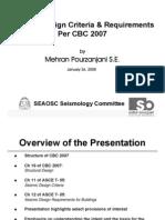 Seismic Design Criteria 2007 CBC by Mehran Pourzanjani