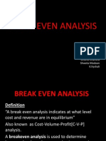 18537479 Break Even Analysis