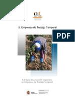 5.2 GUIA Empresas de Trabajo Temporal