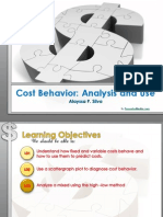 Cost Behavior Analysis and Use