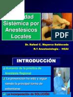 Toxicidad Anestesicos Locales 2013