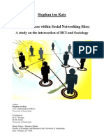 Trustworthiness within social networking sites (S. Ten Kate)