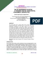 Analysis of Awareness of Retail