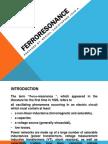 Ferroresonance Report