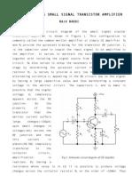 Understanding Small Signal Transistor Amplifier