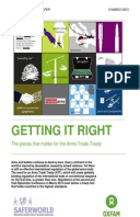 Getting It Right: The pieces that matter for the Arms Trade Treaty