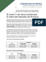 COMUNICADO Nº 014-CALENDARIO IMPUESTO PRIMARIA 2013.pdf