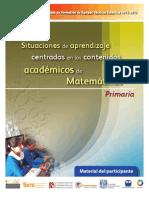 6. Material del Participante. Matemáticas. Primaria