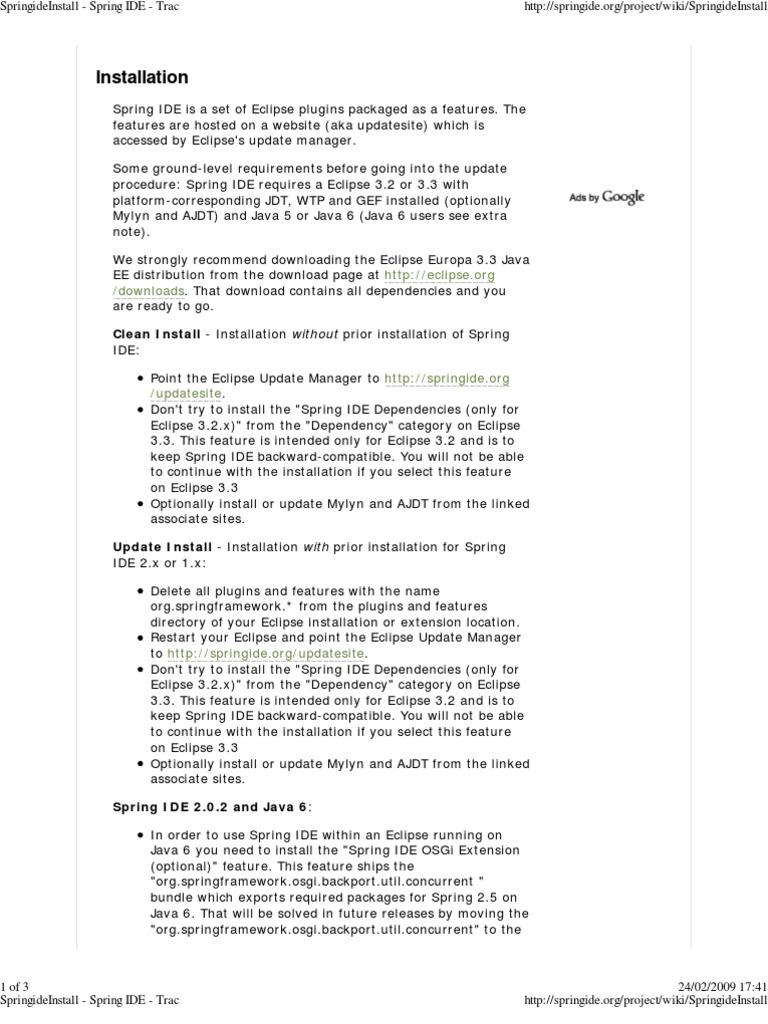 SpringideInstall   Eclipse (Software)   Integrated Development