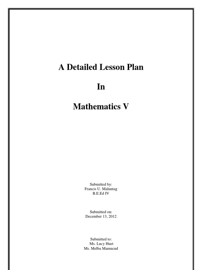 grade 7 mathematics lesson plans Bedford county public schools » departments » instruction » mathematics » lesson plans and sample lesson plans net/math/math_04htm : fifth grade.