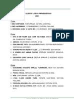 Relacao de Livros Paradidaticos 2011