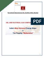 Notification ONGC Various Posts