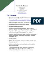 New York 501c3 Checklist