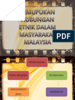 Pemupukan Hubungan Etnik Dalam Masyarakat Malaysia