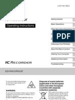Sony Ic Recorder Manual