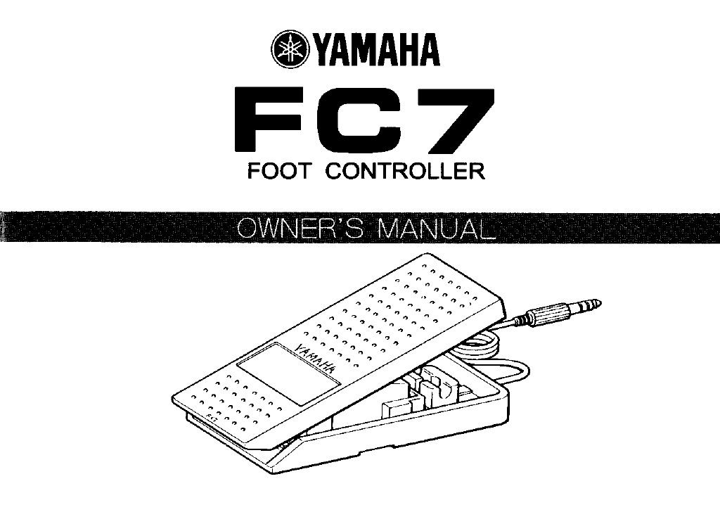Yamaha FC7 Volume Pedal Manual M_151552
