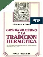 Giordano Bruno y La Tradicion Hermetica - Frances a. Yates