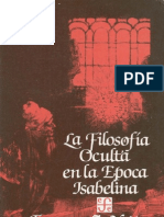 La Filosofia Oculta en La Epoca Isabelina - Frances a. Yates