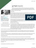 Jean Piaget- Biography