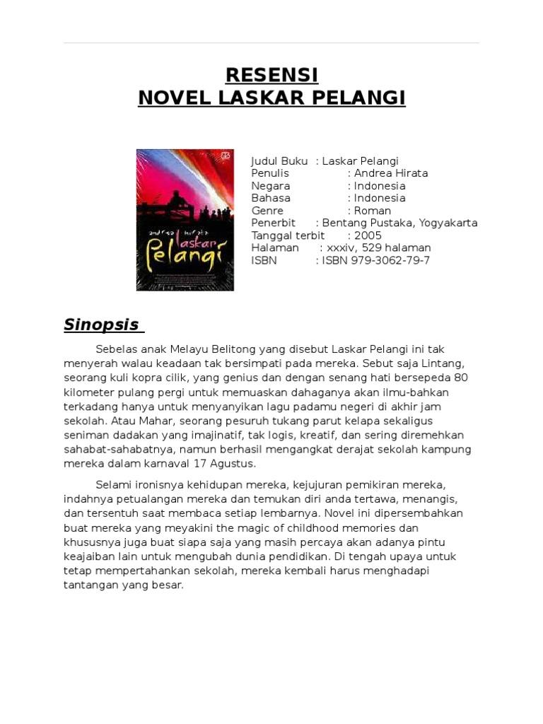 RESENSI Novel Laskar Pelangi
