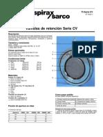 INF - PIP - CT - Válvula de retención serie cv