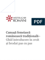 Ghid Introductiv in Croit Si Brodat Camasa Traditionala Romaneasca