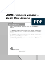 ASME Pressure Vessels Basic Calculations