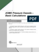 ASME Pressure Vessels Basic Calculations