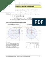 32188359 Trigonometrie Sur Le Cercle Cours Copy