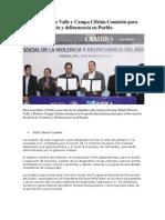 08-03-2013 Diario Cambio - Instalan Moreno Valle y Campa Cifrián Comisión para prevenir violencia y delincuencia en Puebla.pdf