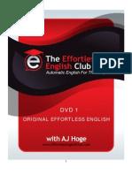 DVD 1.Original Effortless English